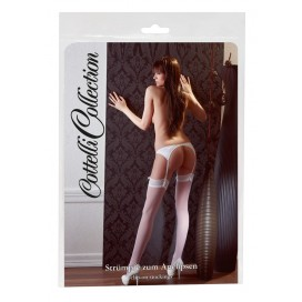 Erotic Sexy Stockings white 4 Large sizes