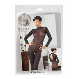 Erotic Sexy Catsuit with Lace Collar S/M Large sizes