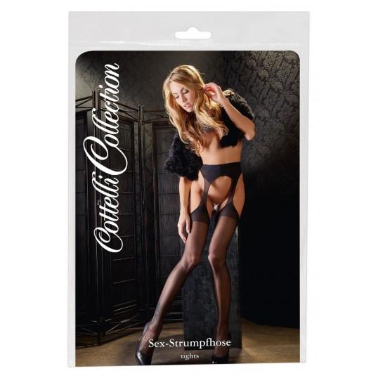 Erotiskās sieviešu zeķes un zeķubikses Sex Tights black S/M