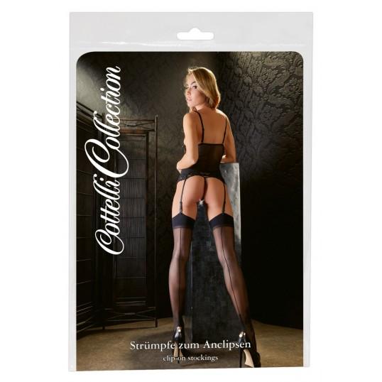 Stockings with seam black 2