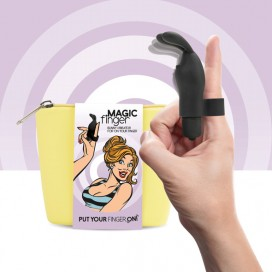 FeelzToys - Magic Finger Vibrator Black