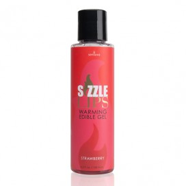 Sensuva - Sizzle Lips Warming Edible Gel Strawberry 125 ml