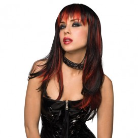 Wig Courtney - Black with Burnt Red