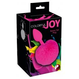 Anālie ielikņi Aizbāznis Colorful Joy Bunny Tail Plug