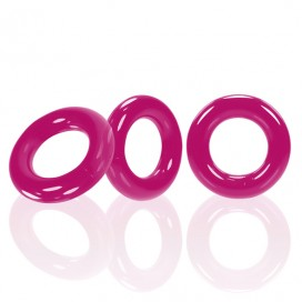Oxballs - Willy Rings 3-pack Cockrings Hot Pink