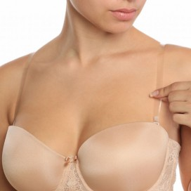 Bye Bra - Transparent Bra Straps XL