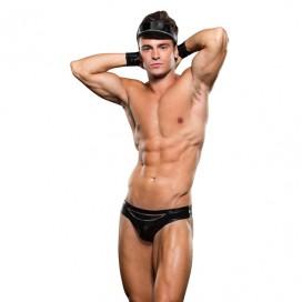 Envy - Biker Bikini Bottom/cuff/ Hat 3 Pc L/XL
