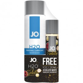 System JO - H2O Lubricant 120 ml & FREE Gelato White Chocolate Raspberry